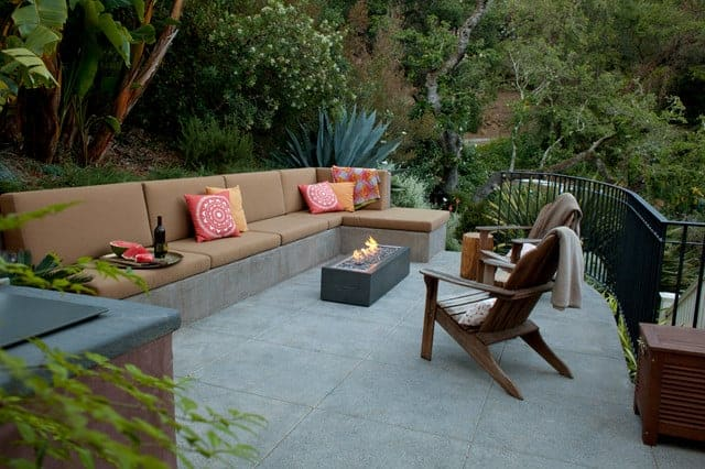 Banquette With Fire Pit