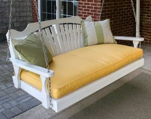 white-porch-swing-set-garden-outdoor