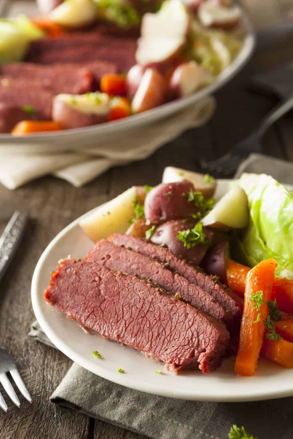 Homemade Corned Beef and Cabbage
